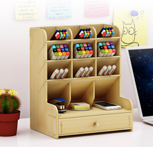 Load image into Gallery viewer, Wooden Desk Organizer