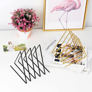 Triangle Design File Shelf