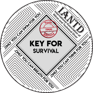 "IANTD Key Survival Decal - 3"" (7.6cm) Circle"
