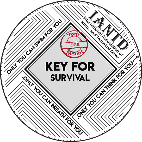 IANTD Key Survival Decal - 3