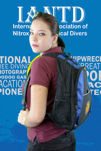 IANTD Backpack Blue - Side View