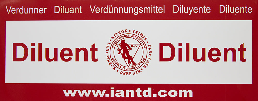 Rebreather Diluent Decal - Multi-language Decal