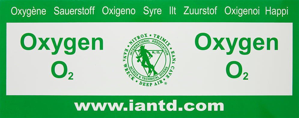 Rebreather Oxygen Decal - Multi-language Decal