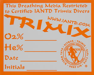 Trimix Content Decal