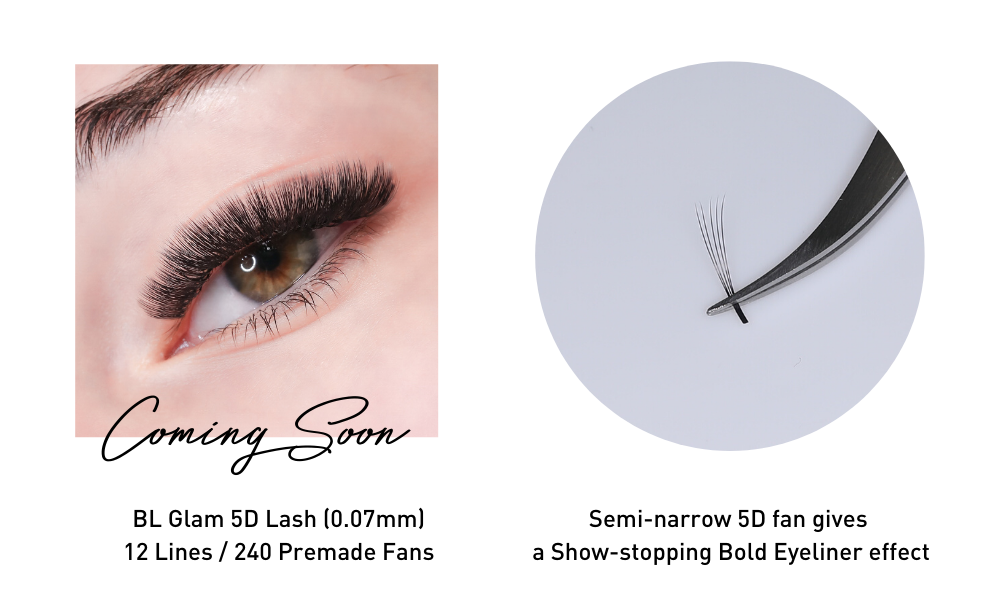 Semi-narrow fan premade volume lash from bl lashes