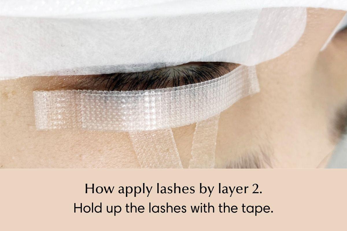 How to isolate and apply lash extensions by layer - 2