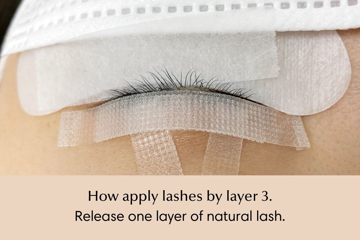 How to isolate and apply lash extensions by layer - 3