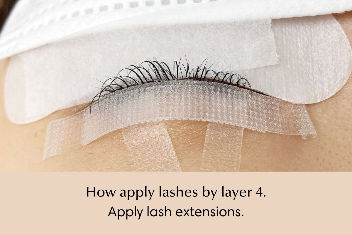 How to isolate and apply lash extensions by layer - 4