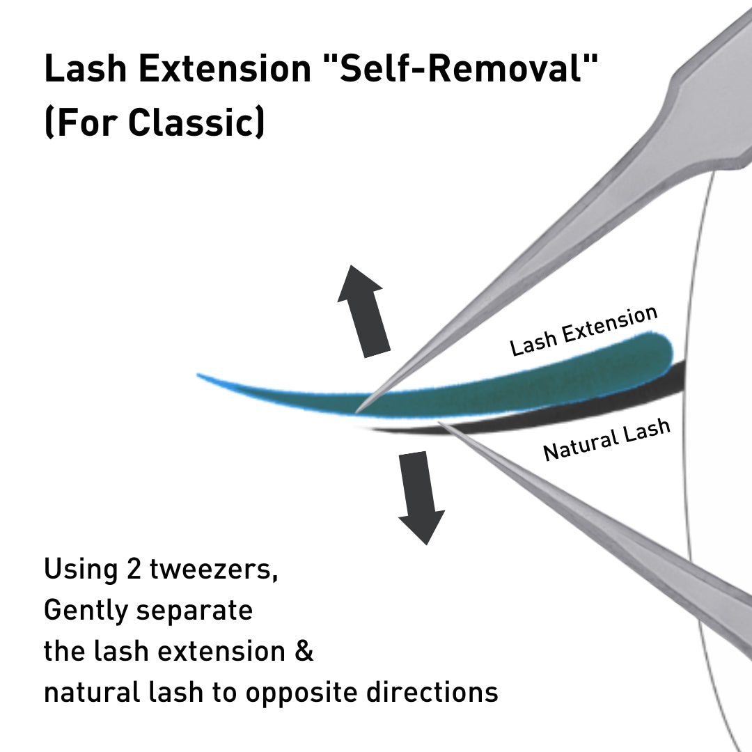 How to remove eyelash extensions at home by bl blink lashes