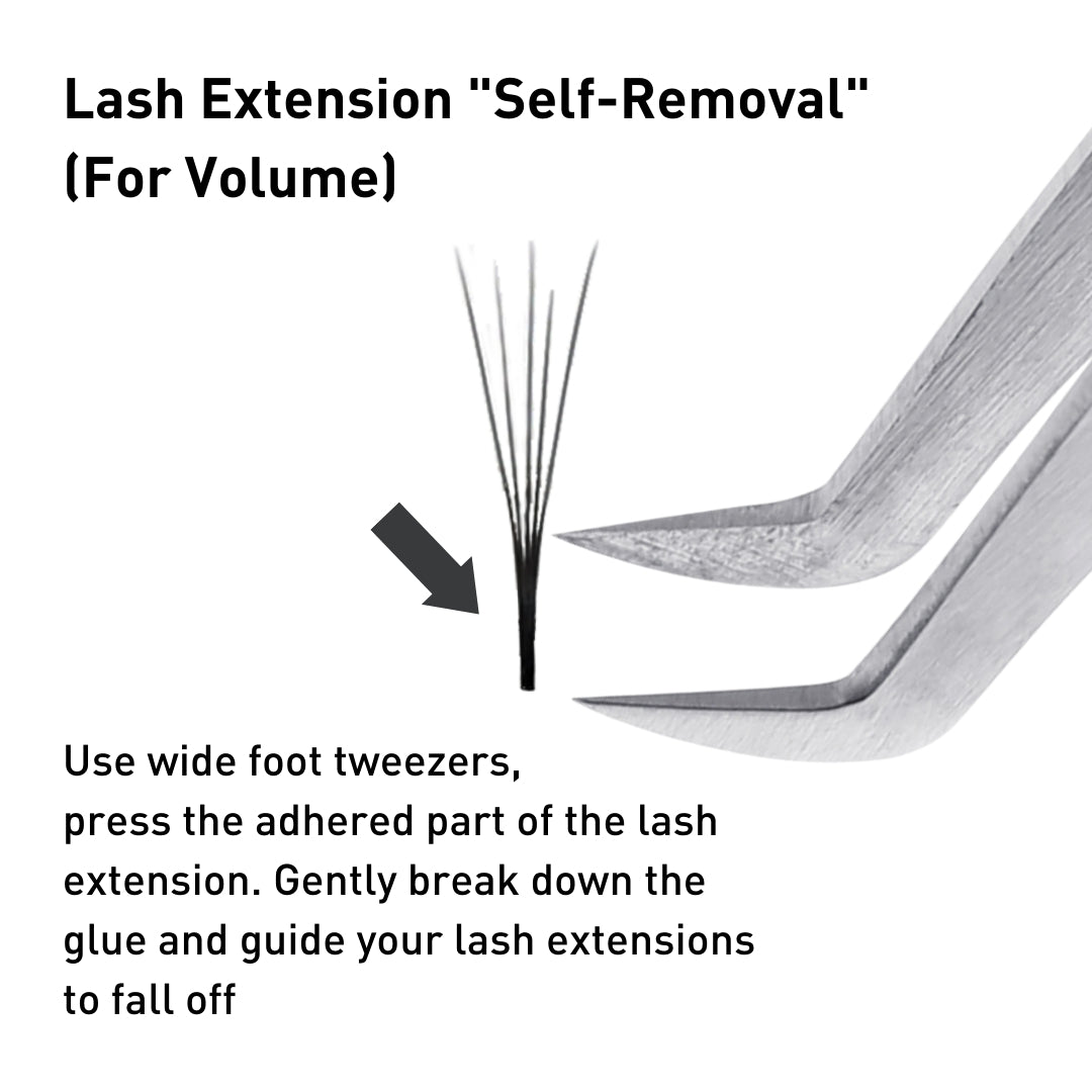 how to remove eyelash extensions at home - volume lashes by bl blink