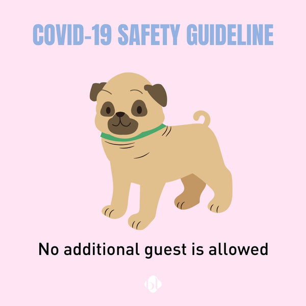 Eyelash Extension Safety Guideline for COVID-19- no additional guest is allowed