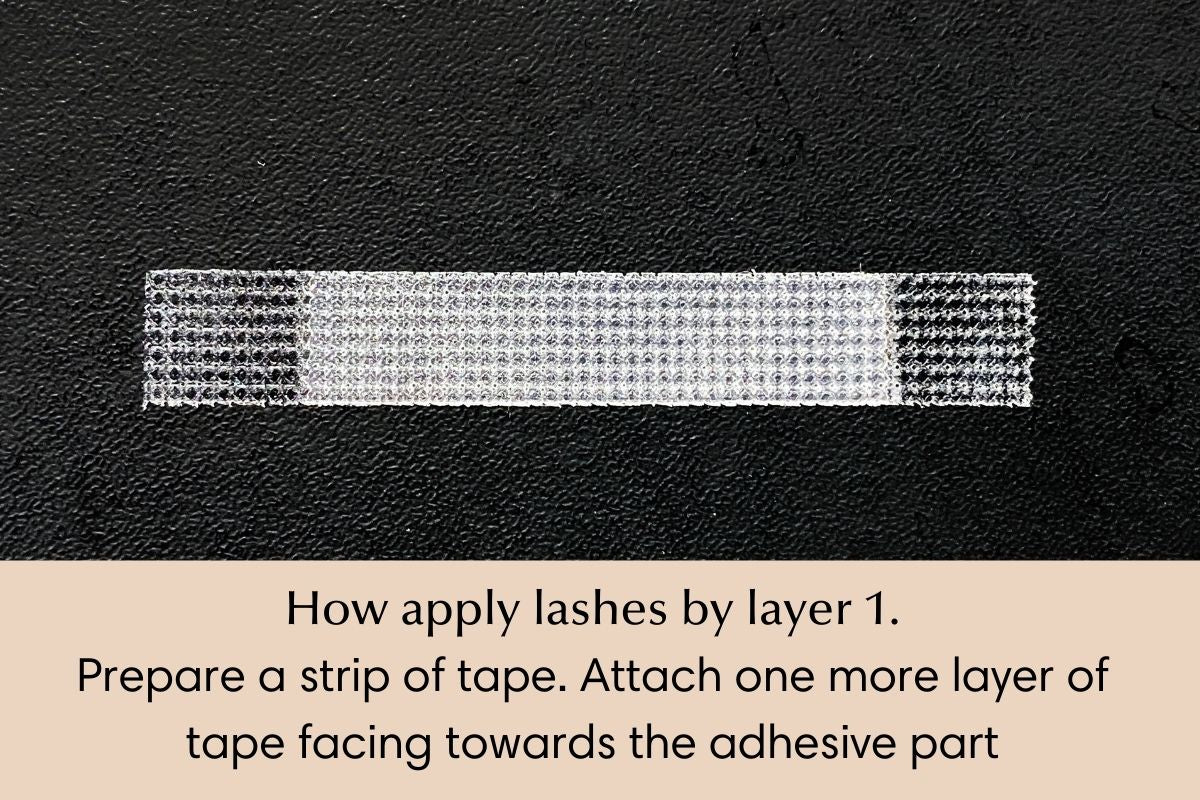 How to isolate and apply lash extensions by layer - 1
