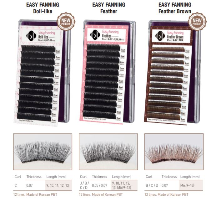 BL Blink easy fanning lash extensions for volume lashes overview