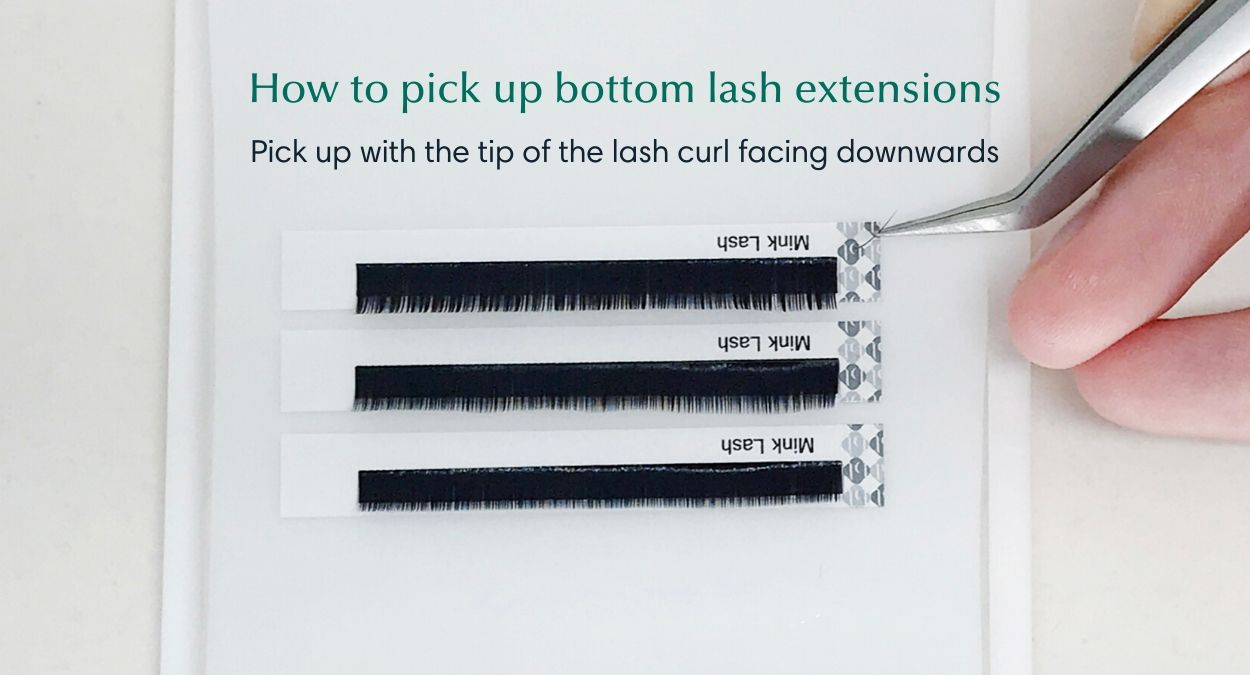 Bottom lash extension supplies - How to pick up lashes 2