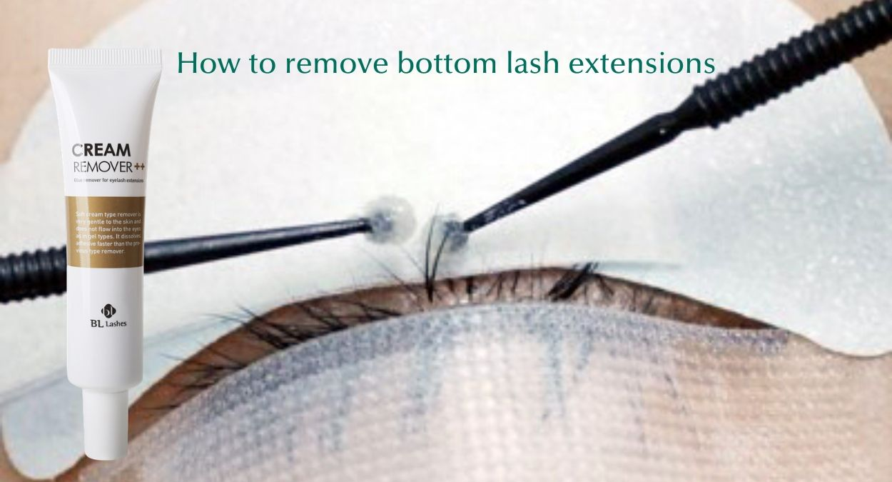 how to apply eyelash extensions to bottom lashes - Removal