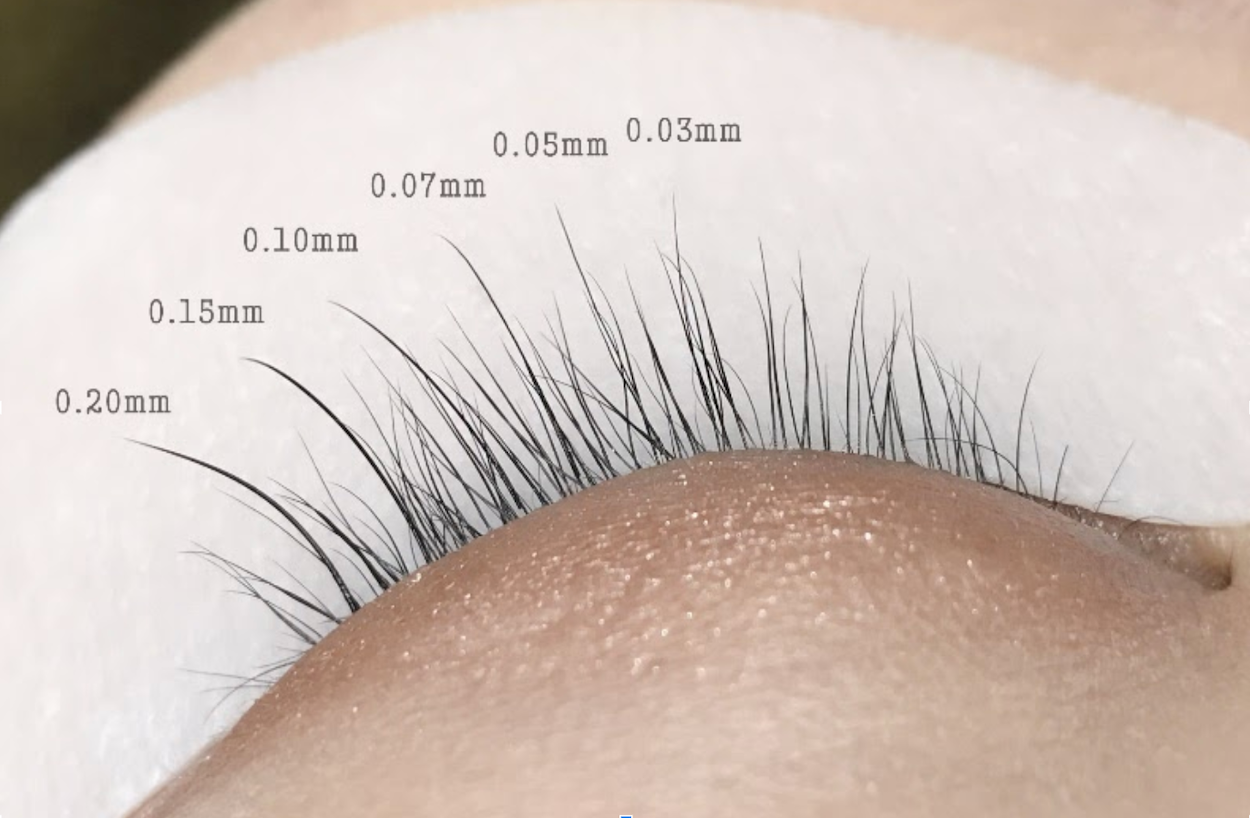 Calculate Volume Lashes Size & Weight for different type of natural lash