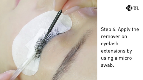 How to remove eyelash extensions by bl lashes