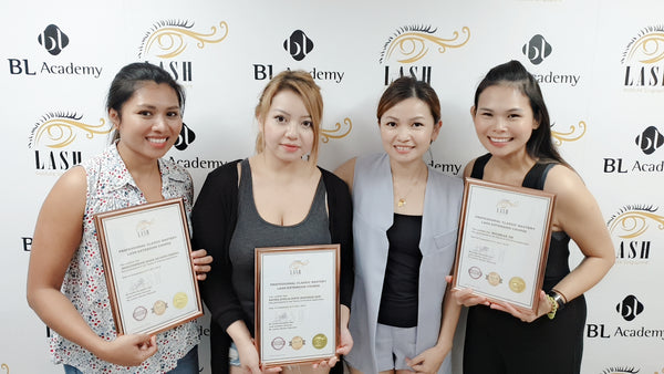 Annie with her graduating students at Lash Institute
