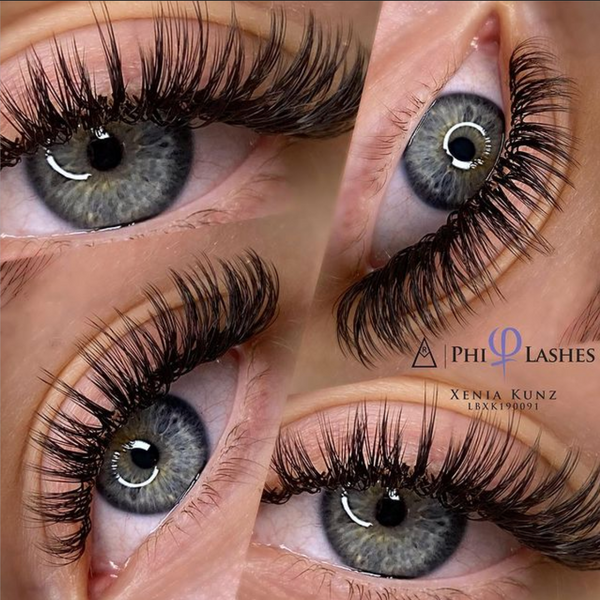 lash extension trend - wet look lashes