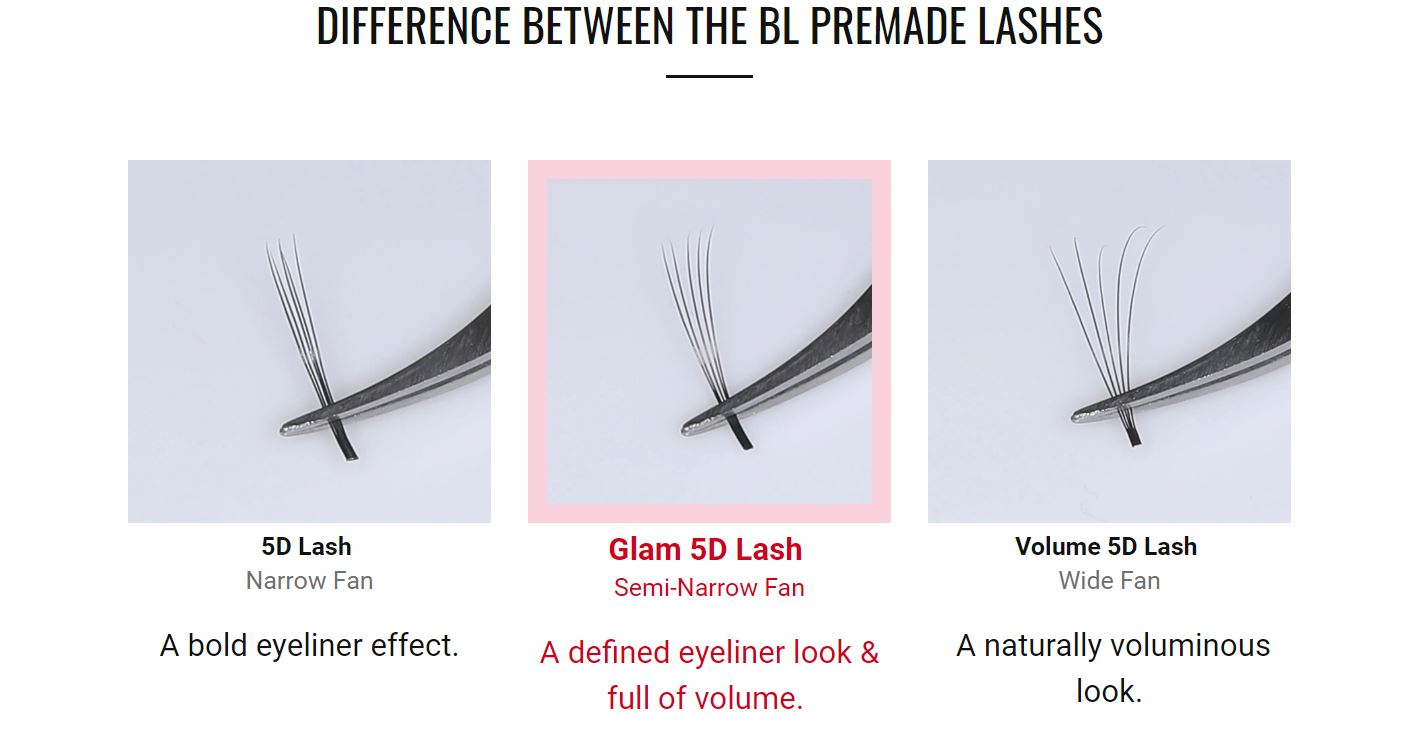 bl blink pre-made lash extensions - differences