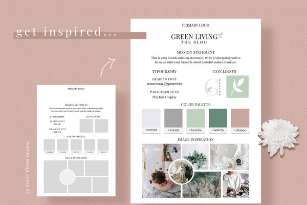 branding and mood board templates for your lash studio