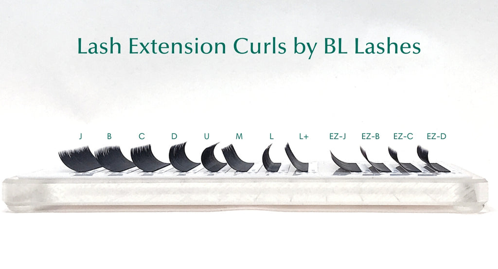 Lash extension curl chart by BL Lashes | eyelash extensions supplies