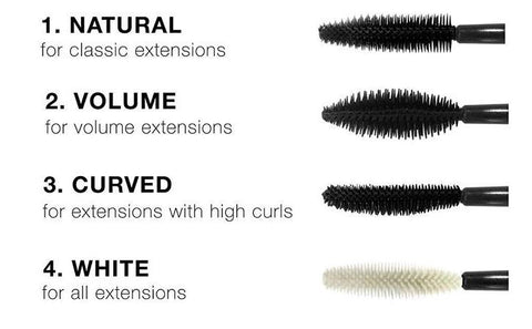 eyelash extension supplies - silicone lash brushes by blink bl lashes