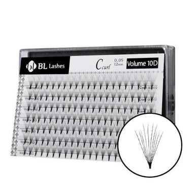 Blink BL Volume lashes 10D_12 mm_Eyelash Extension Supplies and Wholesale