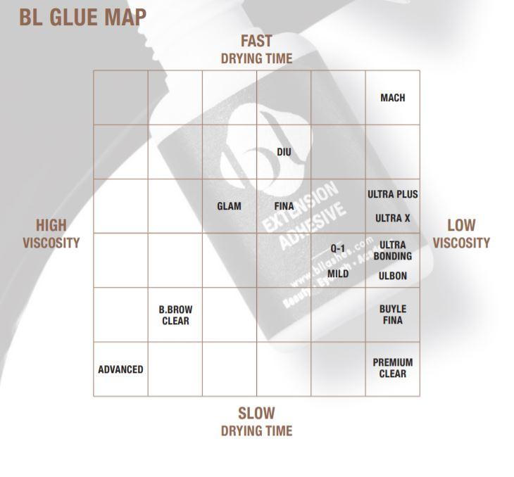 blink bl eyelash extension adhesive map