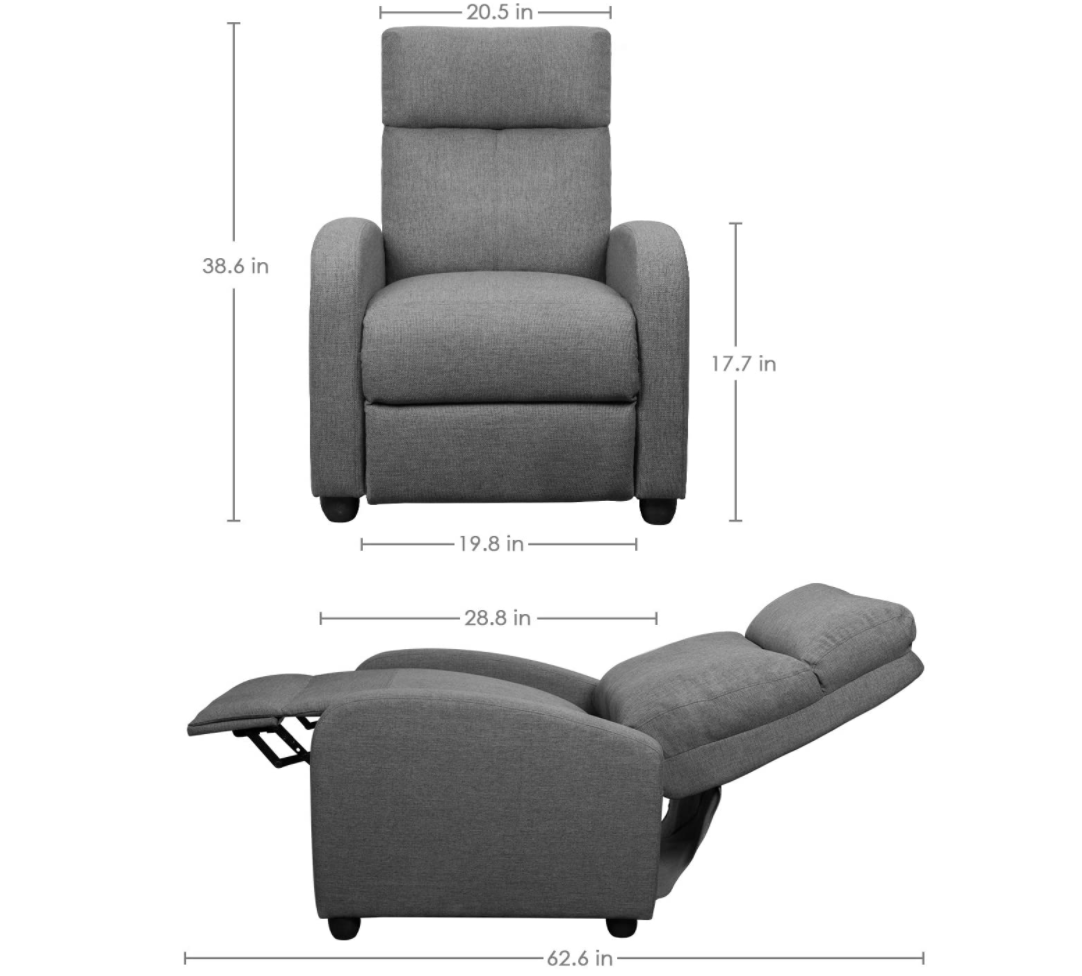 Recliner chair as a lash bed