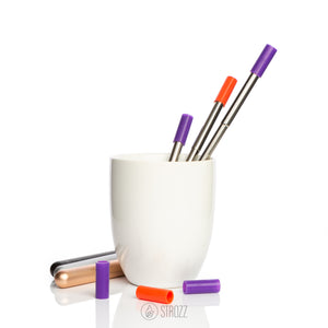 Each straw comes with a removable silicone tip to protect your teeth and lips.