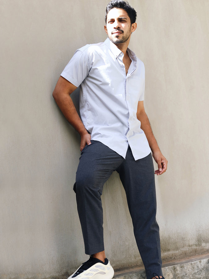 Short Sleeved shirt with welt pocket detail