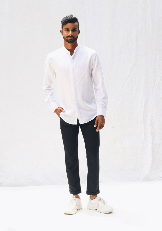 Mandrain collar basic shirt