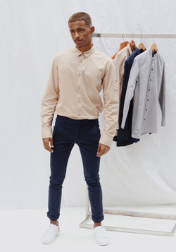 Long Sleeve Shirt with sleeve patch pocket