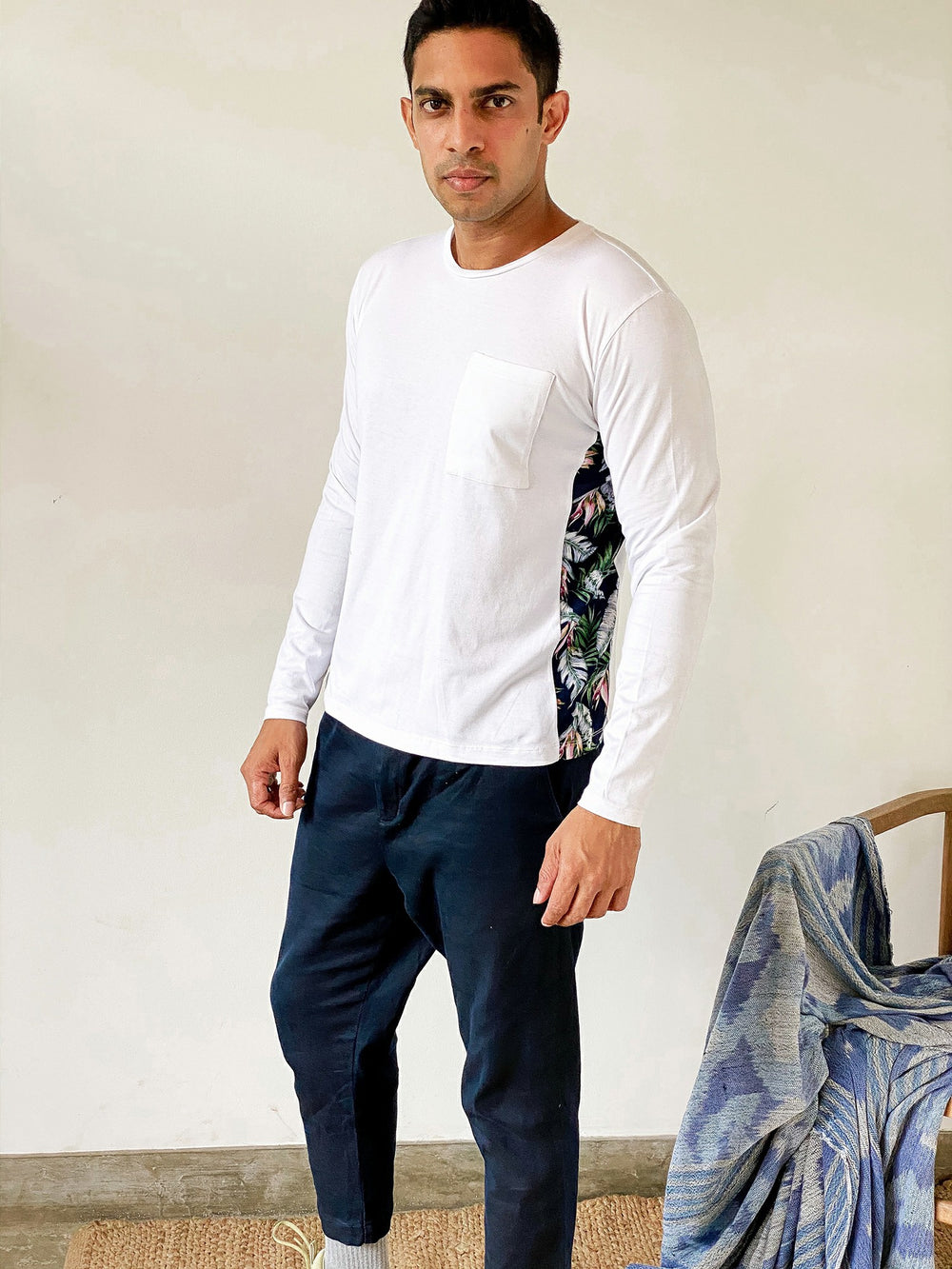 Long Sleeved T-Shirt with Printed Detail