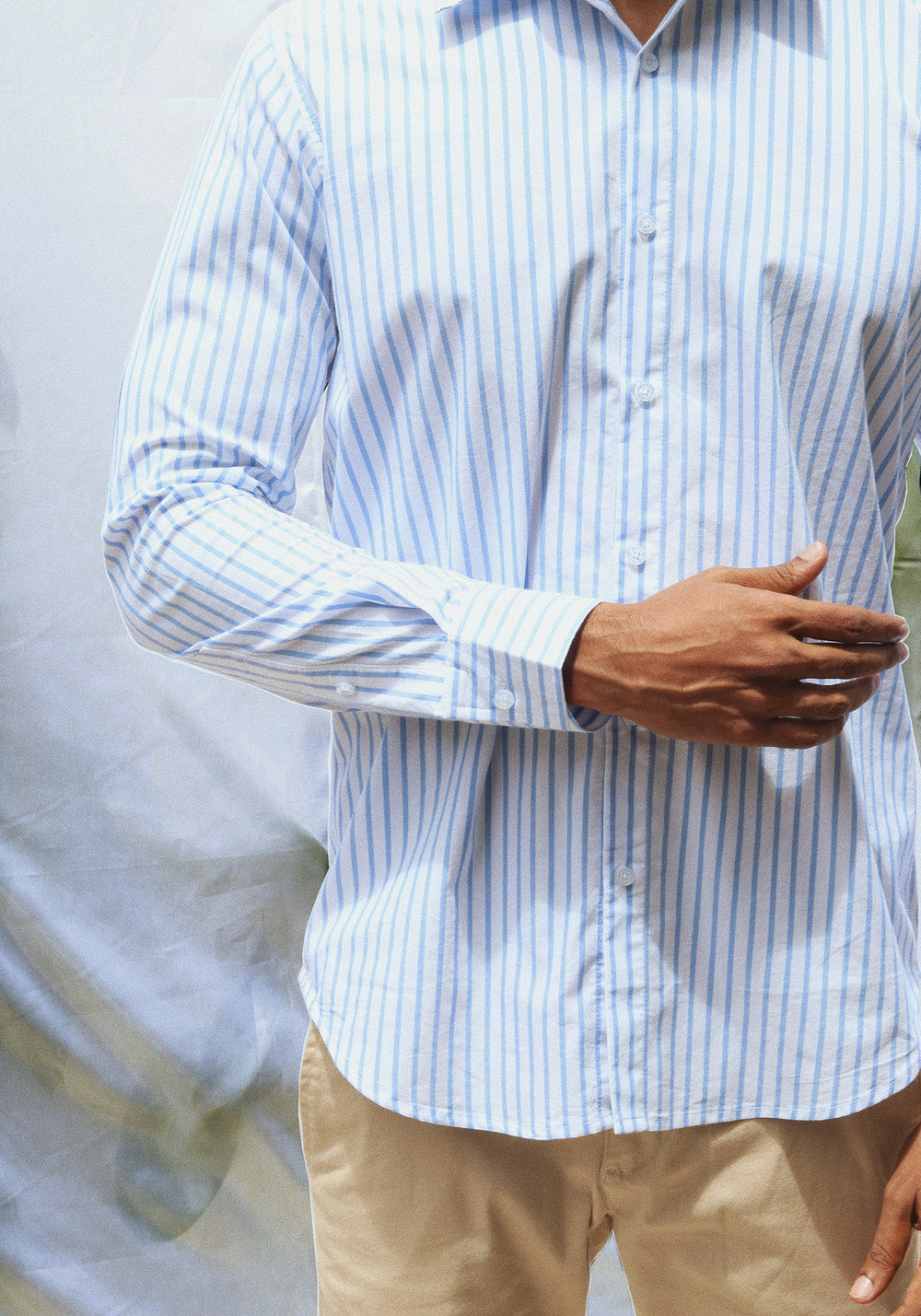 Long Sleeved Shirt with Stripes
