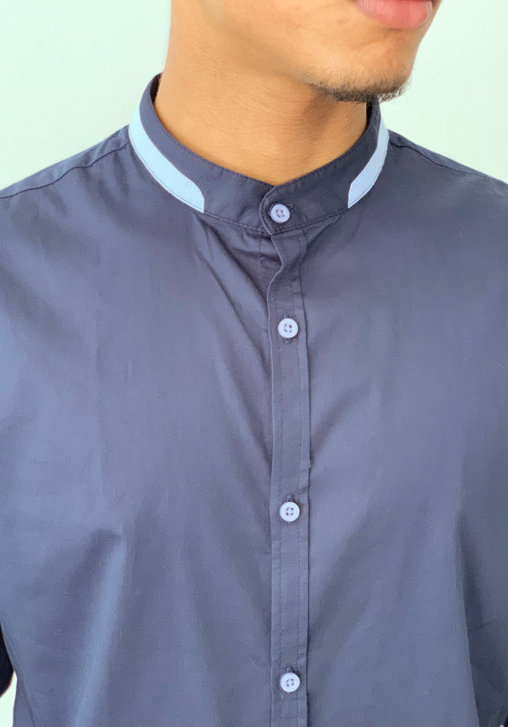 LONG SLEEVED SHIRT WITH SLEEVE PATCHES