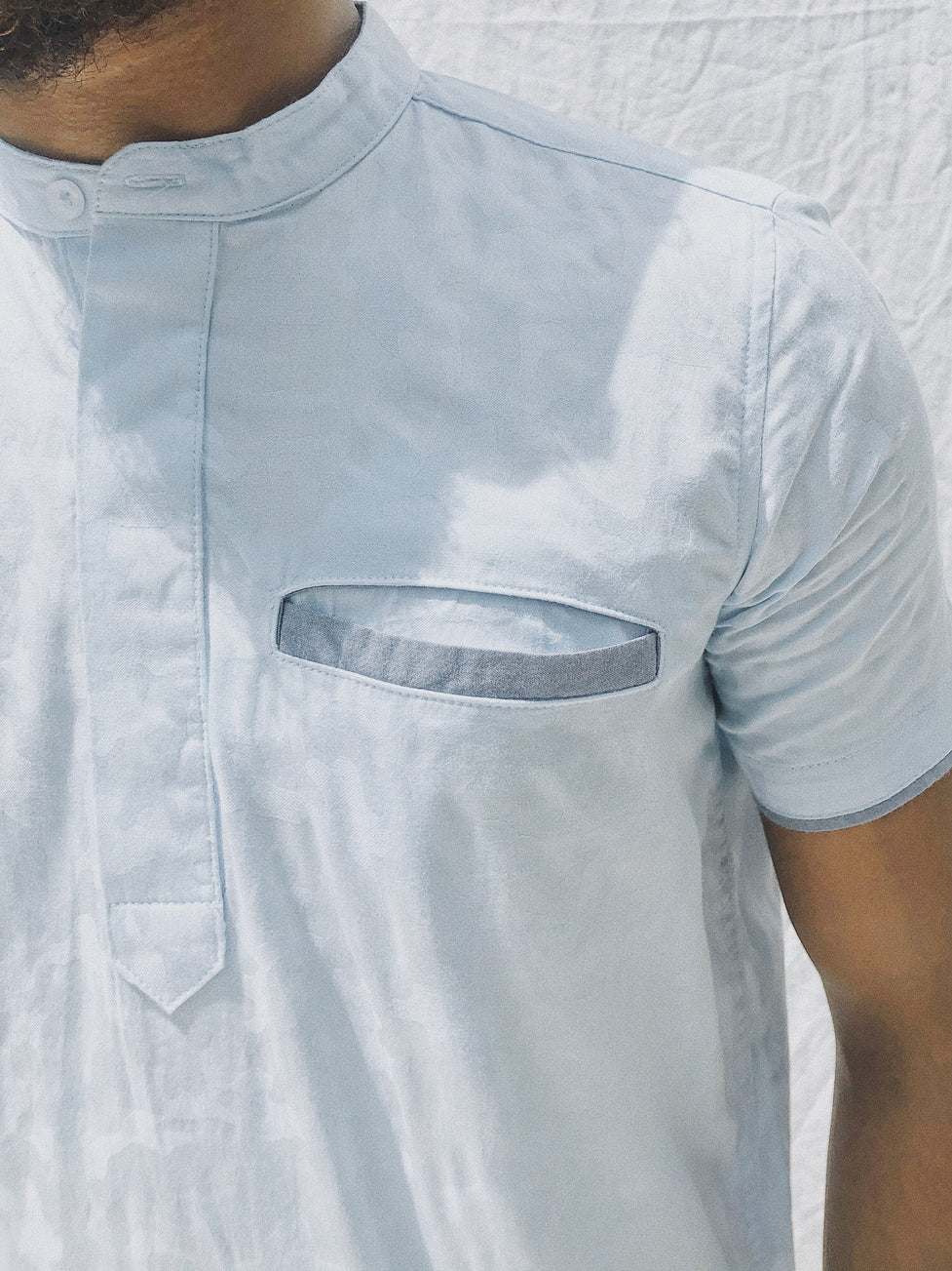 Short Sleeved Half Placket Shirt