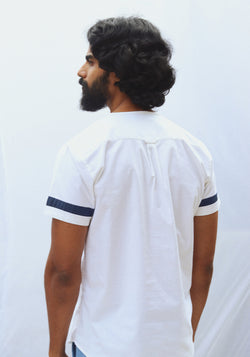 Round Neck T-shirt with sleeve detail