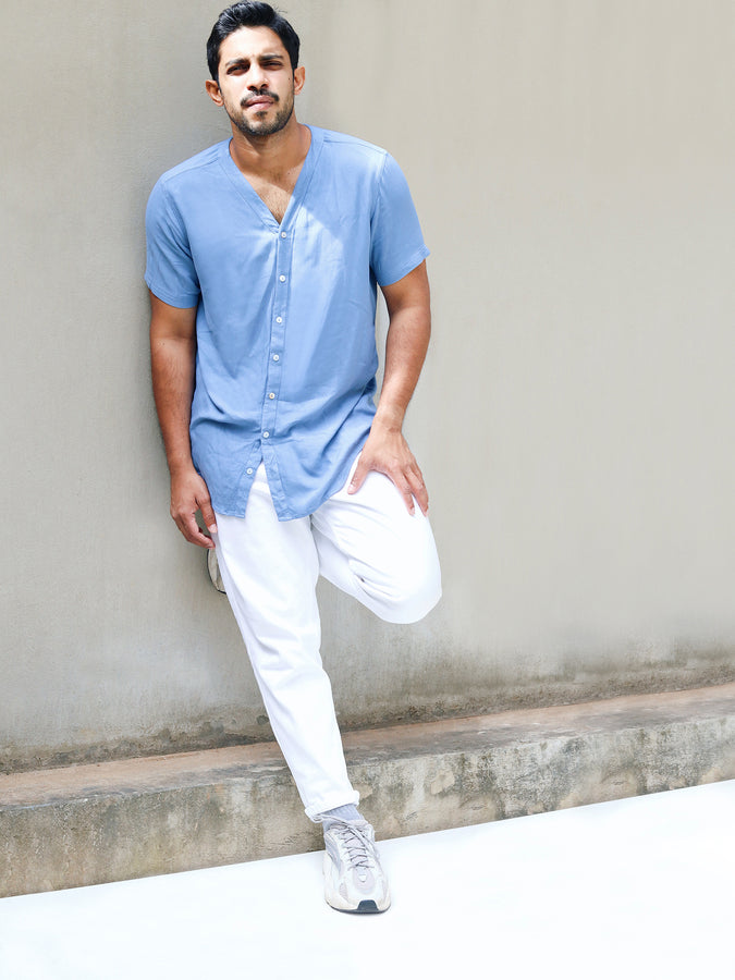 Short Sleeved V-Neck Shirt