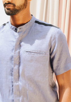 Short Sleeve Shirt with welt pocket