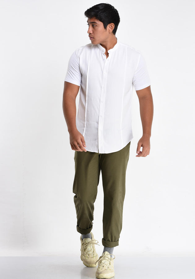 BUTTON DOWN SHORT SLEEVED SHIRT