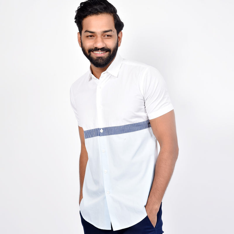 Short Sleeve block Shirt