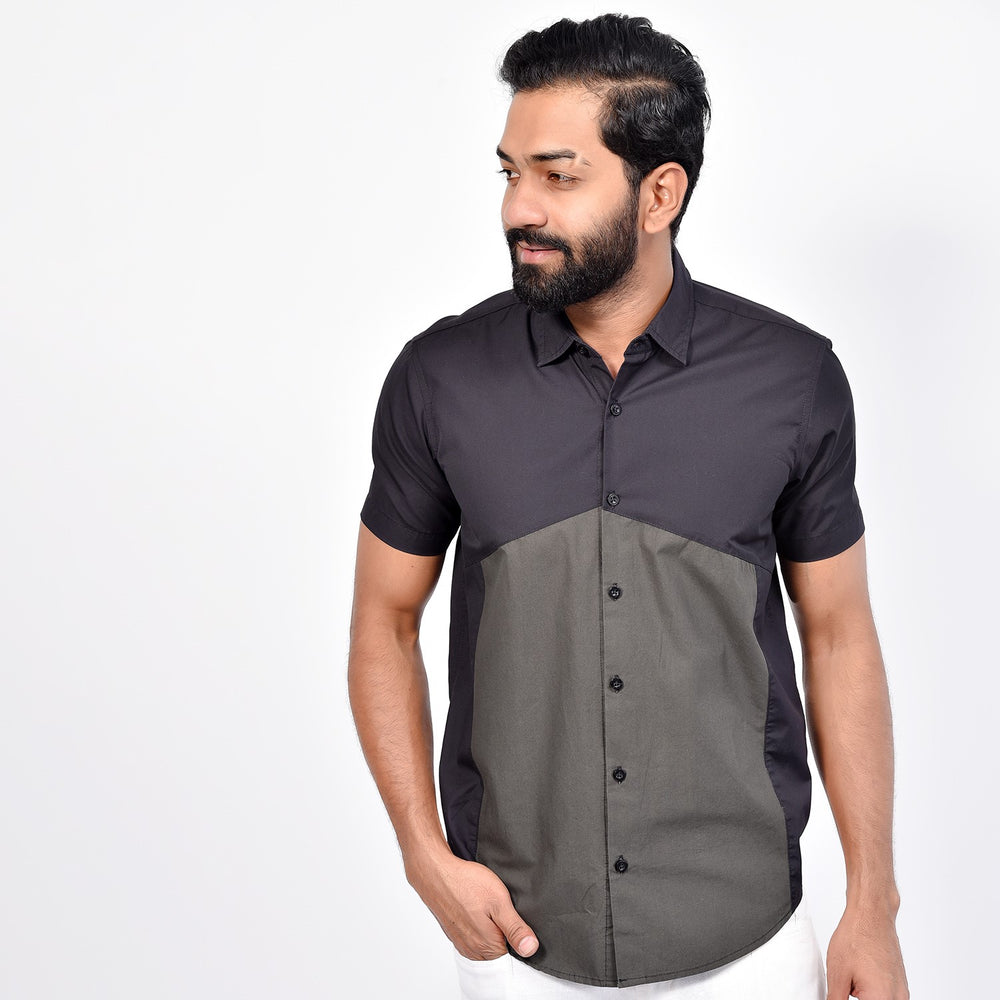 Short Sleeve Regular block Shirt