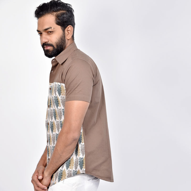 Short Sleeved block printed Shirt