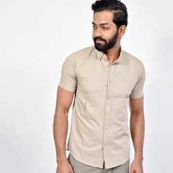 Short Sleeved Button Down Collar Shirt