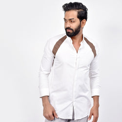 Long Sleeved Button Down  Collar Shirt