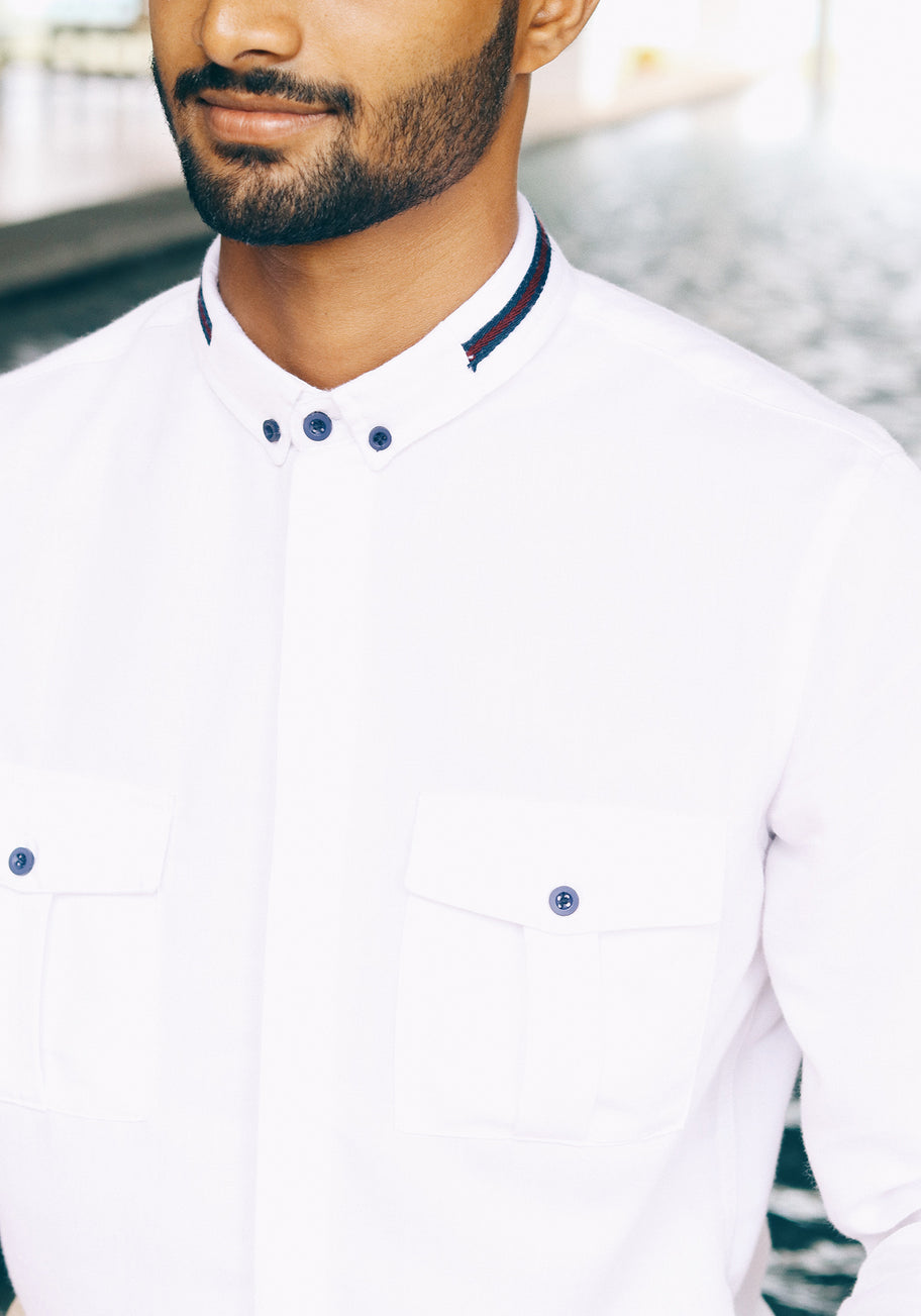 Long Sleeved Shirt with contrast details
