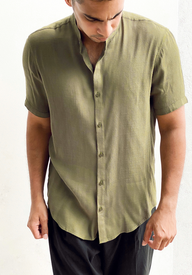 Copy of Short Sleeve Tunic collar shirt