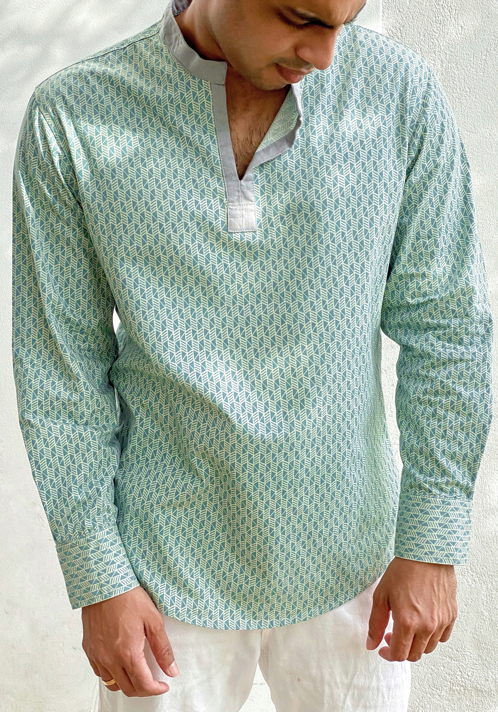 Long Sleeved Round Neck Shirt